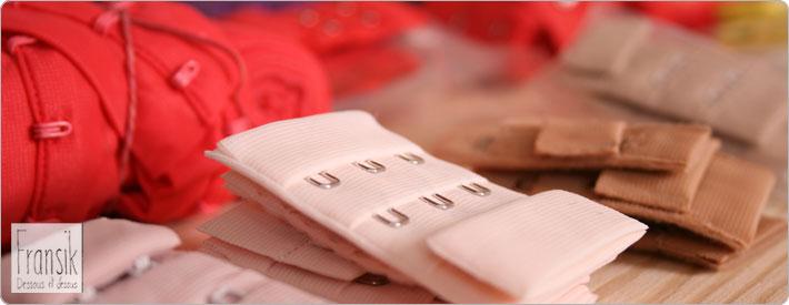 BH Haken farbig rosa rot weiß