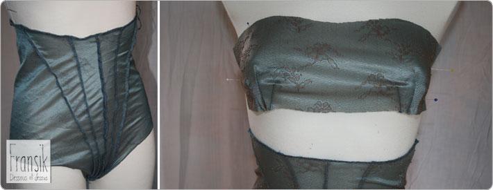Fransik Grundschnitt Taillenslip und Bandeau BH